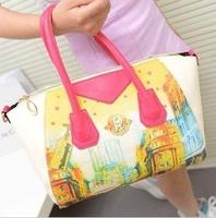 Free Shipping 2013 New Hot Popular Cartoon Handbag Fashion PU Leather Designers Brand Women's Shoulder bag Wholesale