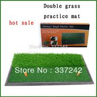 Dual grass golf swing pad pad pad indoor golf practice mat