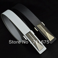 Q134 Hot sale Strap male casual strap genuine leather all-match thin belt black cowhide fashion pocket  1pcs