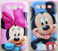 Hot sale mickey minnie mouse case for samsung galaxy s3 cell phone hard cases covers to samsung i9300 9300