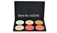 Wholesale 6pcs/lot 6#2 Makeup Cosmetic Eyeshadow Palette 4 Color Contour Shading Concealer+2 Color Blush Blusher Powder make up