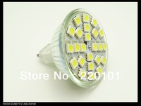 Wholesale 10 PCS MR16 5050 24LEDs Lamp LED Bulb Warm White/White CREE Spotlight Light 220V 5w Free shipping