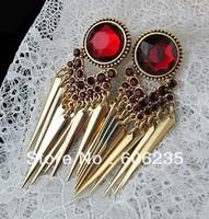 Wholesale Jewelry Gold Spike Stone Big Stud Earrings Cheap Jewelry