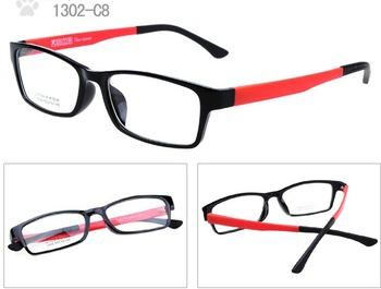 (10 pieces/lot) New Fashion plastic eyeglasses frames,  TR90 acetate ultem optical frames accept mixed colors order
