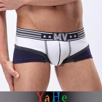 Men Underwear Sexy Shorts Cotton Underwear Male Panties Comfortable Briefs Mid-rise Underpants Patchwork Pants Quick Dry Briefs