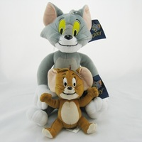 Free Shipping Tom and Jerry Soft Plush Toy Doll Cute 2pc