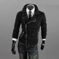 free shipping New Arrival 2013 autumn Men's casual Hoodies sweatshirt more zipper outerwear men's casual sweater jacket men