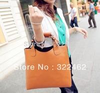 Free Shipping 2013 Fashion Retro Women Bag Handbag, Lady PU Tote shoulder bag (3 Color) 0006