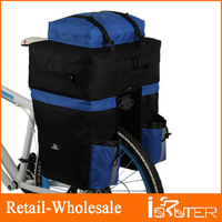 2013 New High quality Bike Bicycle Rear Rack Expandable Panniers Cycle Travel Cycling Cargo Bag Pack,67L with Rain Cover