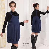 Hot 2015 Spring Summer Autumn New Fashion Pregnant Women Clothing Maternity Dress 100% Cotton Overall Motherhood Suspender Dress
