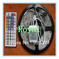 [Royal lighting]Wholesale non-Waterproof led strip SMD5050 300 LEDs flexible stip light+24keys controller
