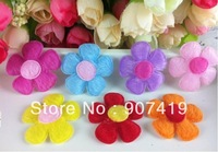 Free shipping+100pcs/lot,  Flannel Flower kids'&baby girl's hair pins/hairclips,hairwears(ET008)