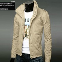 2014 Fashion jacket Coat Men ON Sale Autumn and winter jacket male slim men's clothing casual outerwear male jacket  trend  tops
