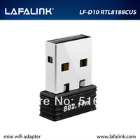 LAFALINK Realtek RTL8188CUS 150Mbps Mini Wireless USB Adapter, 802.11b/g/n Wi-Fi USB Wireless Network Card for pc