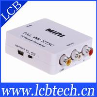 Mini ntsc to pal tv system converter adapter free shipping