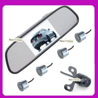 Visible parking sensor system 4.3inch Parking Assistance  car rear mirror monitor+Rear view car camera+psrking sensor 4