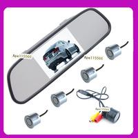 IR Night vision Driving aid camera system 4.3inch  car rear mirror monitor +  120 degree car camera +psrking sensor 4