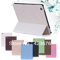 Luxury Diamond Lattice Stand Flip Leather Case For iPad Magnetic Sleep Wake Smart Cover For iPad 4