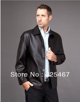 2013 The New Fall And Winter Clothes Men Middle-Aged Men'S Leather Sheep Skin Leather Motorcycle Leather Jacket Special Male