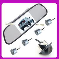 Driving aid camera system 4.3inch  car rear mirror monitor +170 degree parking lane hd car camera +psrking sensor 4