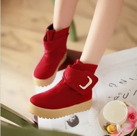 NEW 2013 women's Autumn and winter fashion casual plat heel platform snow ankle boots big size 43 shoes