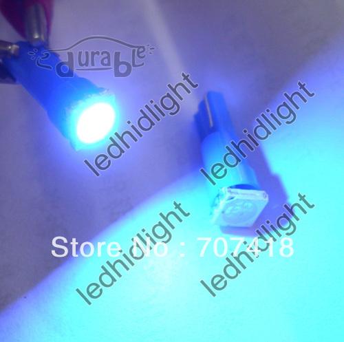 T5 Brilliant Pure Sky Blue Car 5050 SMD 1LED Instrument Dashboard Gauge Mini-Wedge Bulb light(China (Mainland))