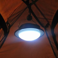 Hot Sale 60 LEDs Outdoor Camping Lamp with Lampshade Circle Tent Light Campsite Hanging Lamp Free Shipping