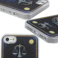 Newest 12 Constellation Flash Light Up LED LCD Color Changing Case Cover For iPhone5  Hard Plastic Shell Skin Back Free Shipping