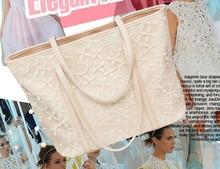 2013 nova moda feminina grande saco de renda crochê bolsa de ombro Flores padrão bag Messenger rua Viagens frete grátis(China (Mainland))