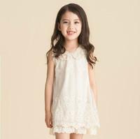 Children's Clothing Summer One-piece dress Lace Princess Dress Chiffon Retro Design Style Free Shipping