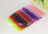 Free shipping!!10Pcs matte transparent case 0.5mm ultra thin crystal/Frost case MIX COLORS for Samsung Galaxy S4 I9500