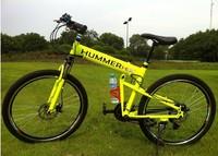 Free shipping Hummer mountain bike  aluminium hummer folding mountain bicycle,21 speed, disc brakes tall man