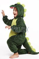 Unisex Children's Costumes Kids Fashion Cosplay Onesies Animal Pajamas Christmas Gift Cute Green Dinosaur Cartoon Animal Pyjama