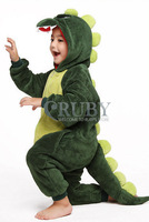 Unisex Children's Costumes Kids Kigurumi Cosplay Onesies Animal Pajamas Christmas Gift Cute Green Dinosaur Cartoon Animal Pyjama