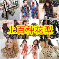 A0095 wholesale 100pcs women chiffon scarf  shawls with more than 50 patterns via Fedex free shipping
