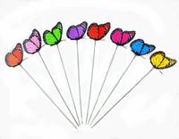 Beautiful Butterfly Flower Stick Flower Stake,Wedding Decorations,garden decor size:12cm 100pcs/lot