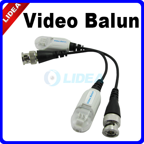 2x UTP Network Video CCTV Balun CAT5 to Camera BNC DVR HK B-14(China (Mainland))