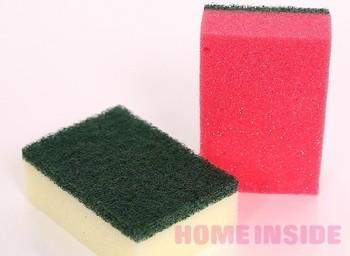 10pcs/lot Free Shipping Sponge Washing Sponge Wash Cloth Oil Clean Towel Sponge Scourer