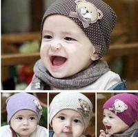 2pcs/lot free shipping baby hat baby cap infant cap Cotton Beanie Infant Hat Skull Cap Toddler Boys & Girls Hats