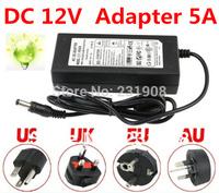 Wholesale 10pcs/lot   12V  5A  6A  AC/DC Power Supply Charger Transformer Adapter  5050 3528 LED RGB Strip light US/UK/EU/AU