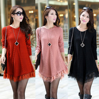 maternity sweater pullover pregnant women sweater clothing dress long sleeve lace decoration top skirt autumn winter clothes