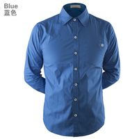 Free shipping + New Fashion Men's casual shirts wholesale and retail long sleeved shirt Men's Shirt