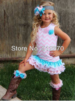 Dress wholesale fresh so cute colorful cotton chevron dress for kids