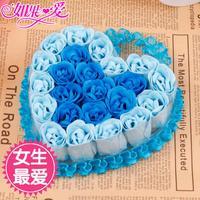 If love cartoon doll dolls doll bouquet romantic birthday gift rose soap flower gift box