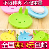 cartoon momo rabbit soap box double layer soap tray household soap box .