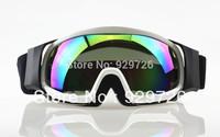 New Adult Outdoor Sports Colored Lens White Frames Ski Snowboard Goggles Motocross ATV Off-Road Dirt Bike Snowmobile Eyewear