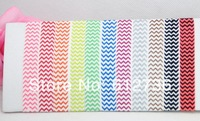 FOE100pcs Fold Over Elastic Chevron Hair Ties Baby Children Adult Hairband Print Hair Accessory Free Shipping