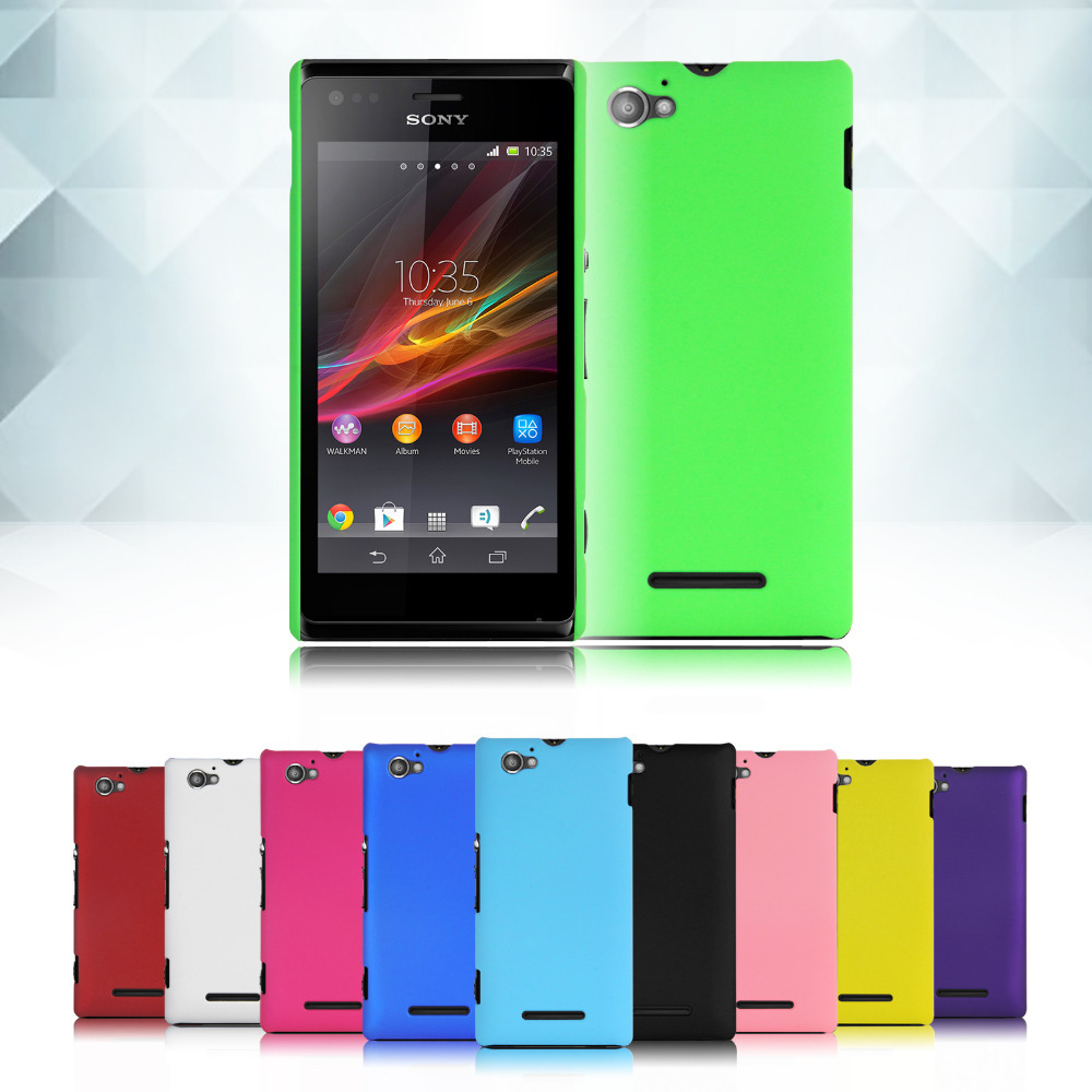 Cheap ! Hard Back Cover Case Skin Shell for Sony Xperia M /Dual/C1905/C1904/C2004/C2005 Free shipping(China (Mainland))