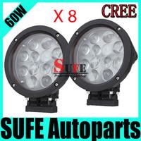 Wholesales 8pcs 60W CREE LED Offroad Working Light IP68 Track Farming 4WD Spot/Flood LED Driving Light