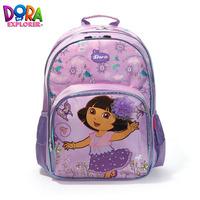 free shipping 2013 brand new designer cute Dora the explorer floral kids printing backpack ,shcool bag, children bags for girls
